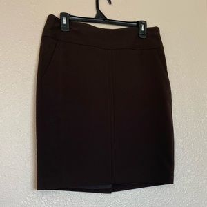 The Limited Studio 400 Pencil Skirt Brown Sz 8